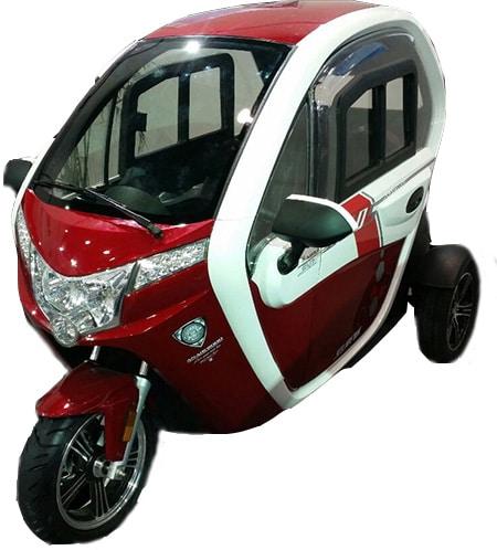 קלנועית אדומה יפה ומהירה דגם sperit 2000