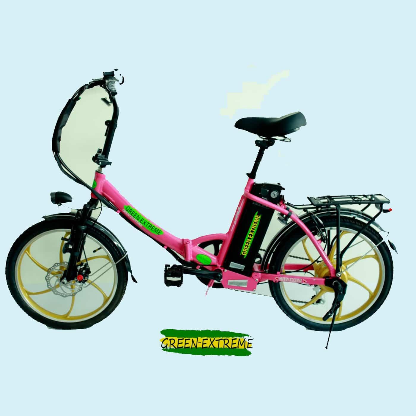 אופניים חשמליות ורודות ברמה גבוהה באתר