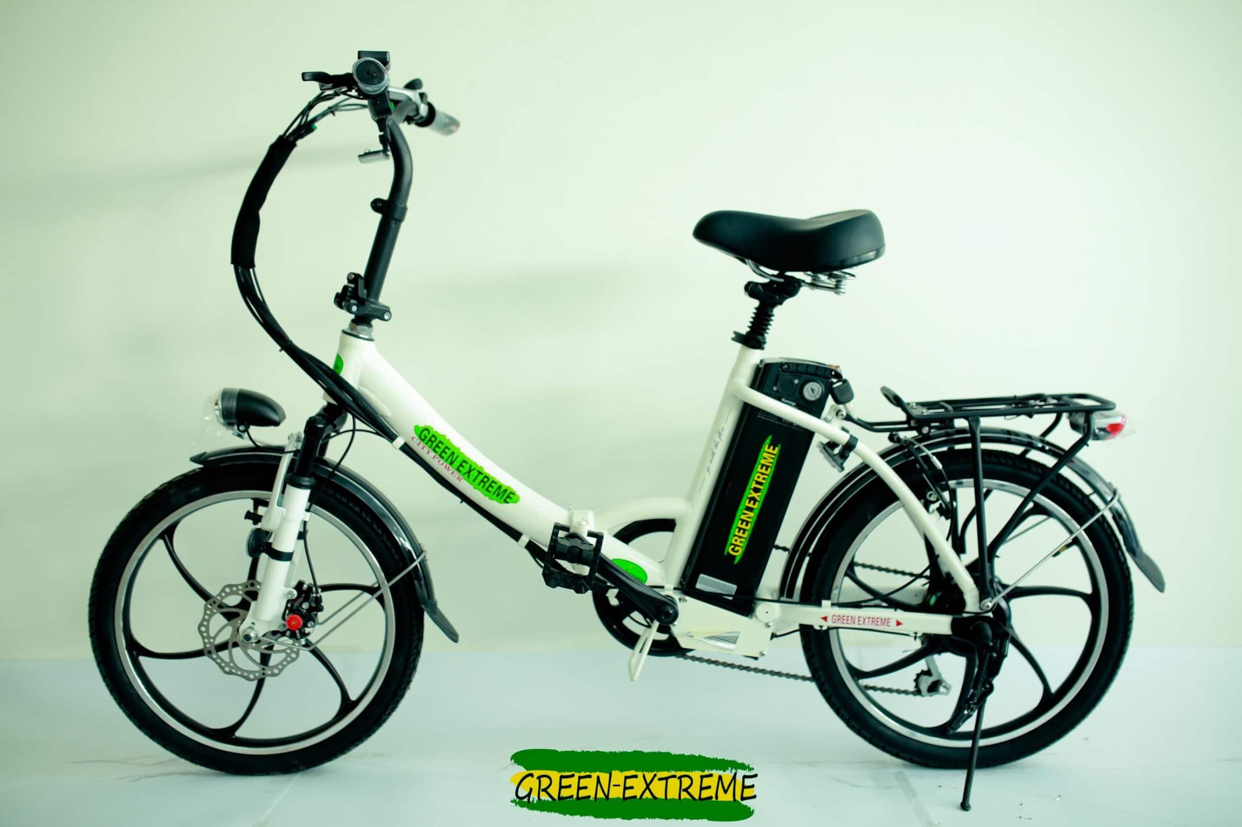 אופניים חשמליים לאישה בצבע לבן