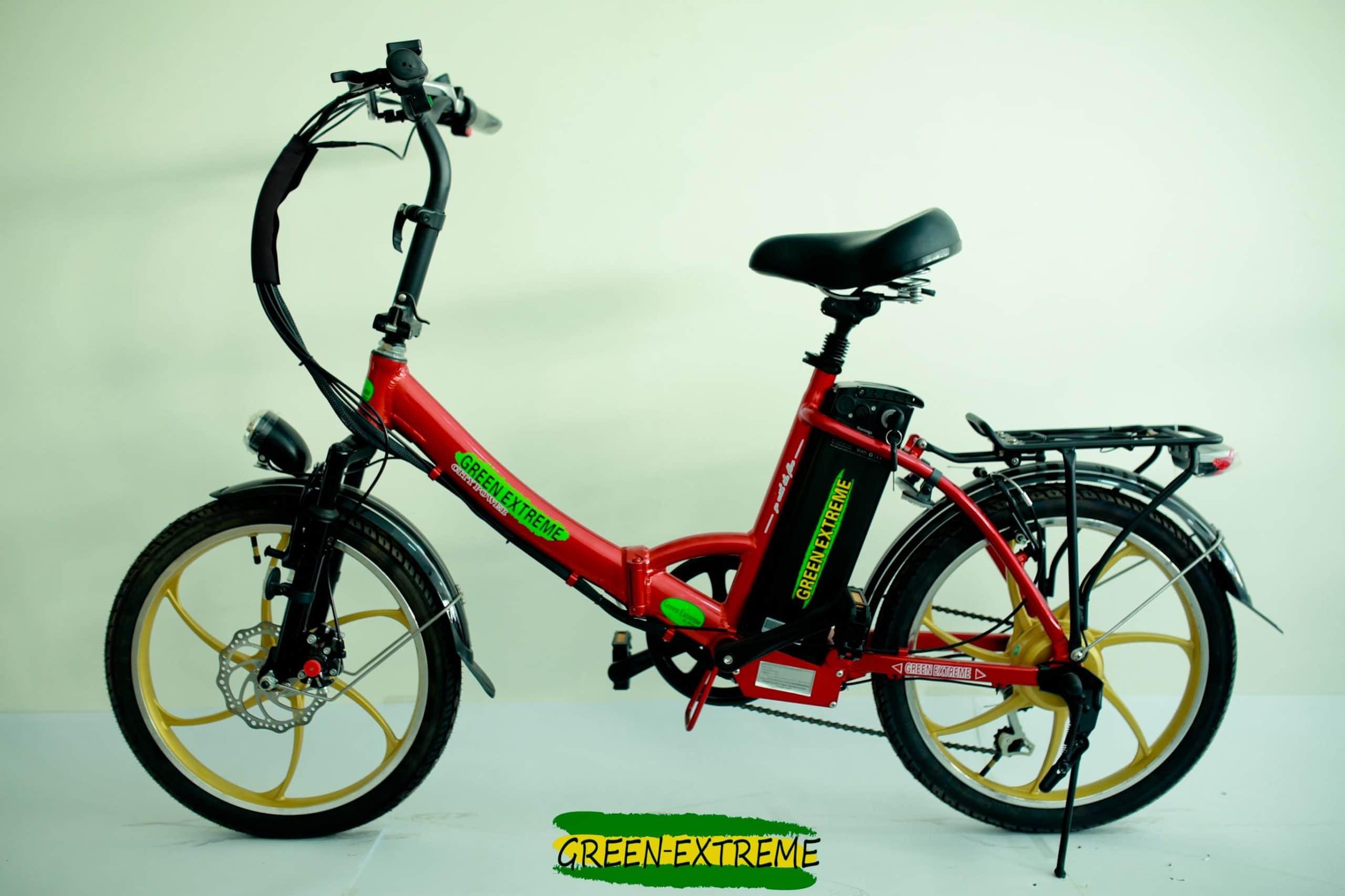 אופניים חשמליים לנשים באדום